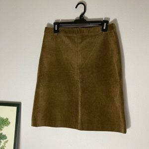 Theory brown corduroy A-line skirt size 8